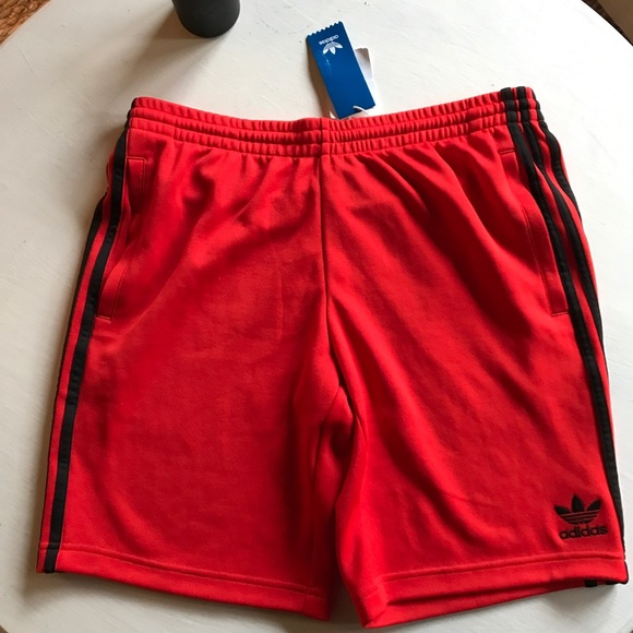 adidas Pants - Sample Red Adidas Track Shorts 